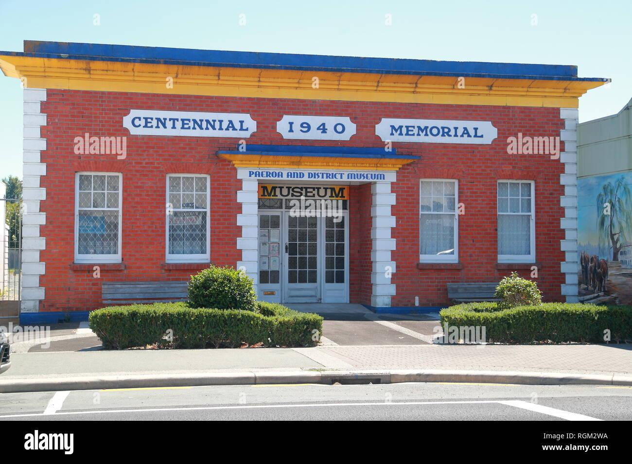 Paeroa and District Historical Museum, Belmont Road, Paeroa, de la région de Waikato, Nouvelle-Zélande, île du Nord Photo Stock