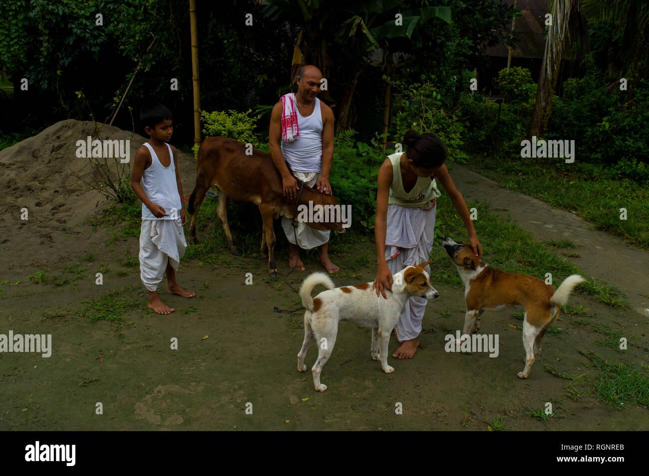 Majuli, Assam Banque D'Images