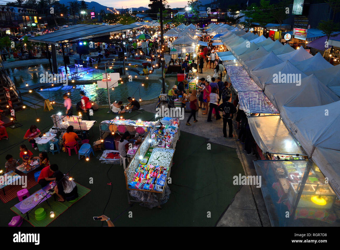 Chillva Markt, Phuket, Thailand Photo Stock