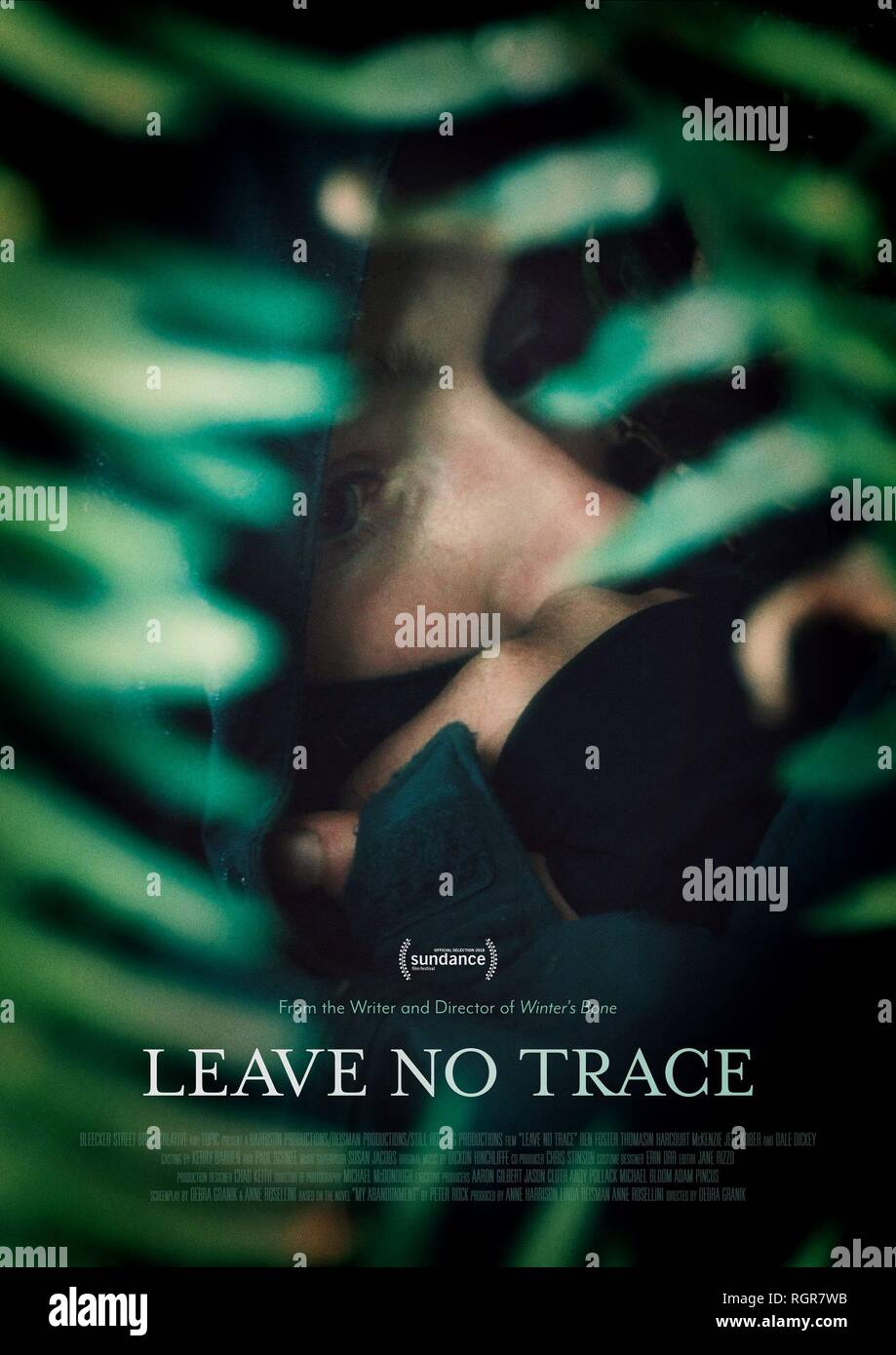 Affiche de film Leave No Trace (2018) Photo Stock