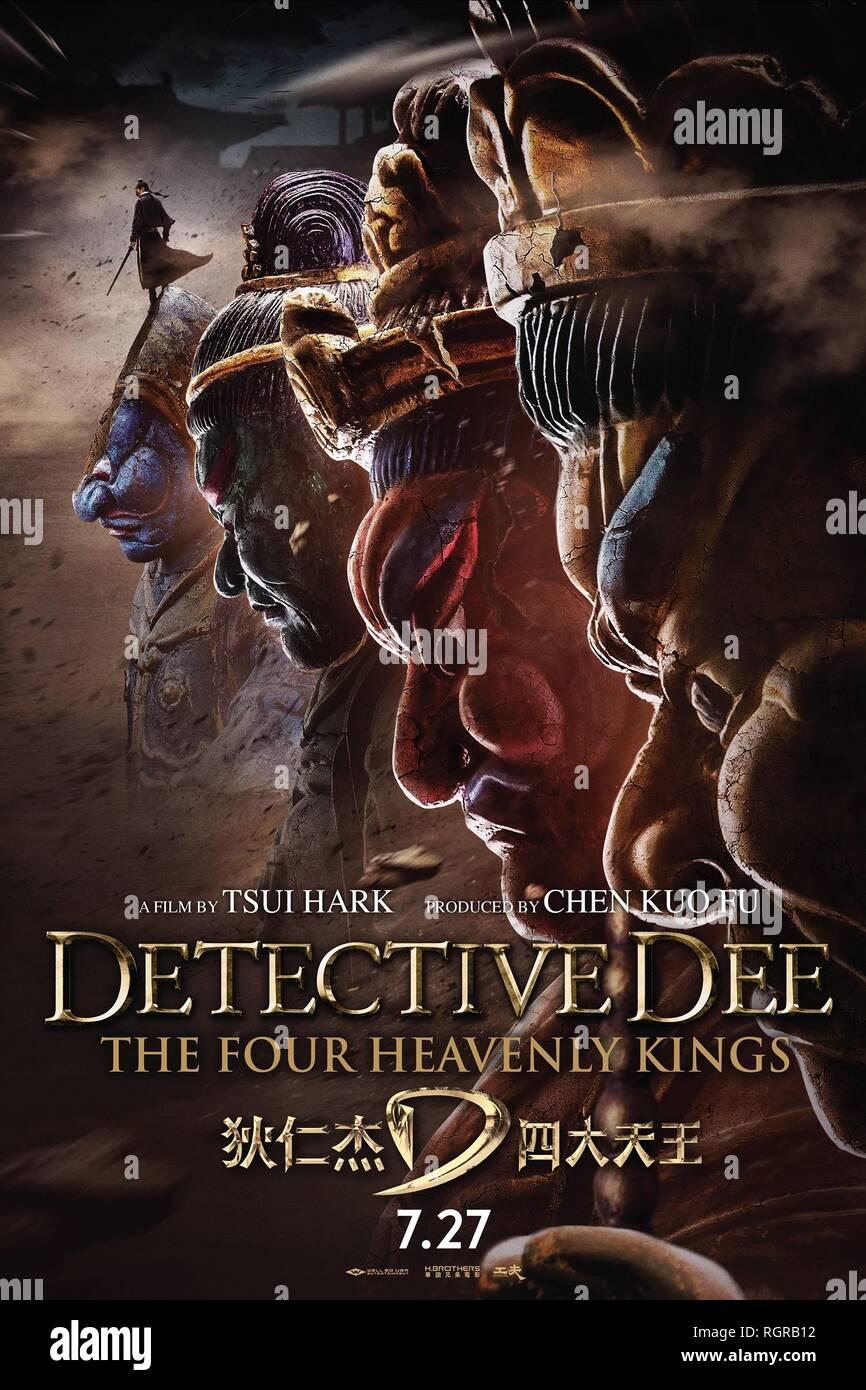 Affiche de film DÉTECTIVE DEE: Les quatre rois célestes; DI RENJIE ZHI SIDATIANWANG (2018) Photo Stock