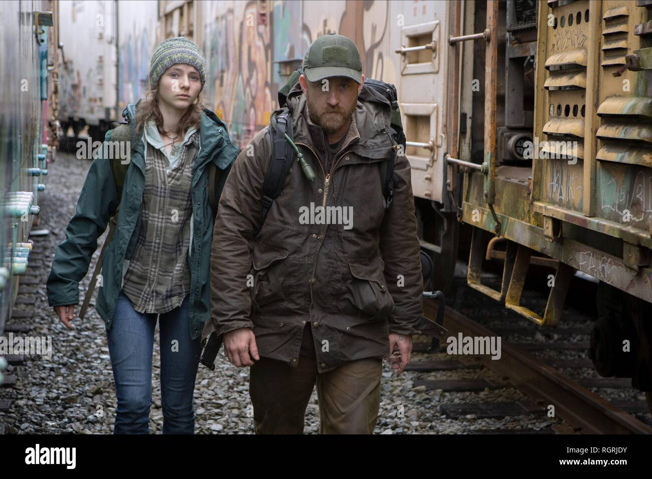 THOMASIN MCKENZIE & BEN FOSTER Leave No Trace (2018) Photo Stock