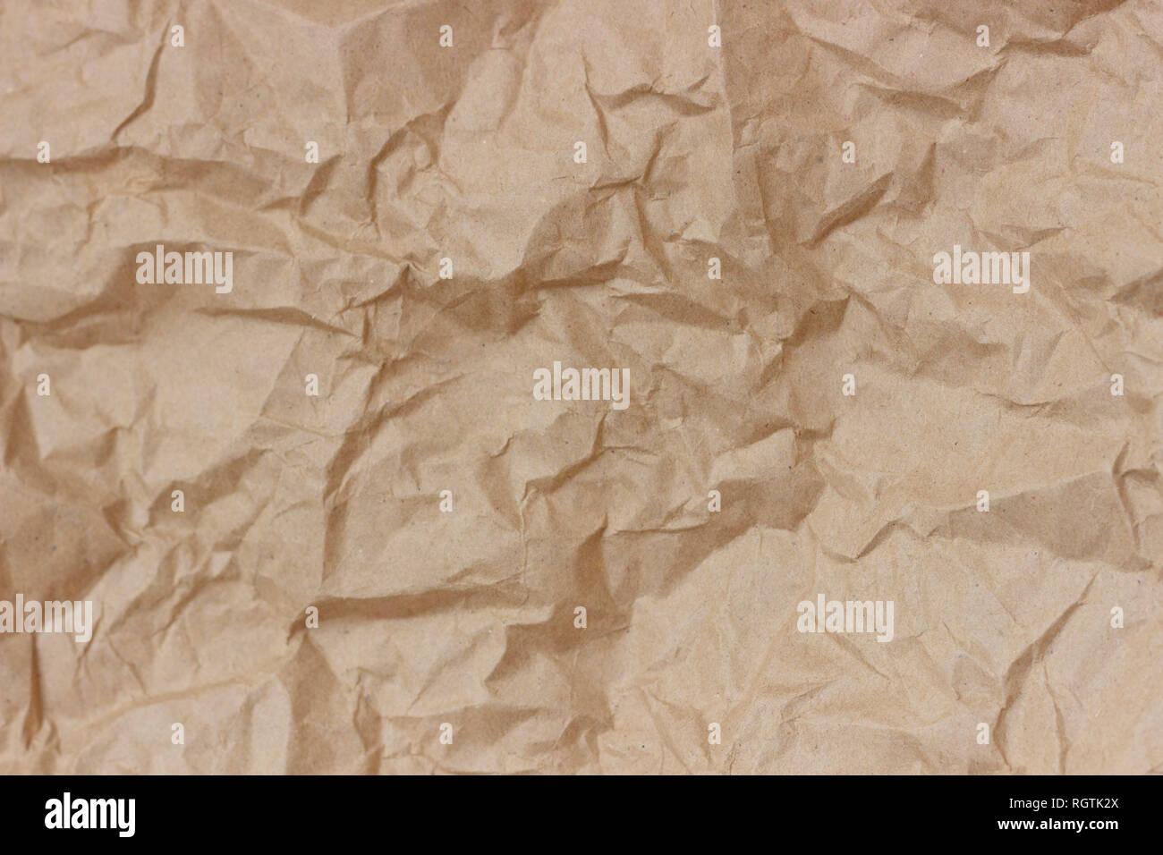 Brown Se Froisser Le Recyclage Du Papier De Fond La Texture De Papier Froisse La Texture De Vieux Papiers Froisses Close Up Photo Stock Alamy