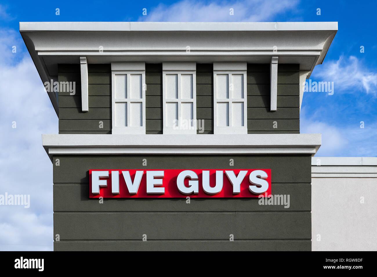 Cinq gars restaurant extérieur, Orlando, Floride, USA. Photo Stock