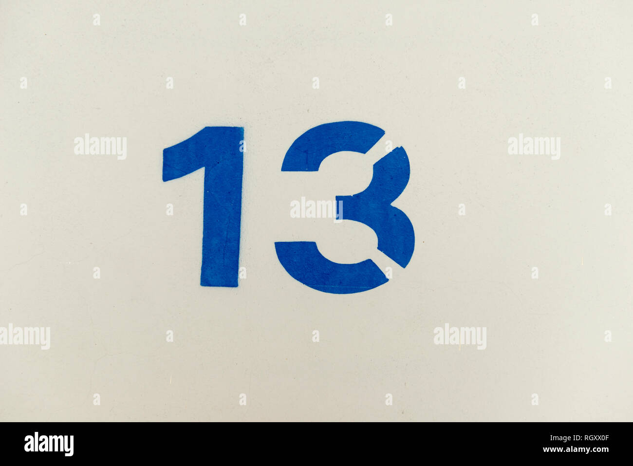 Numéro treize. Photo Stock