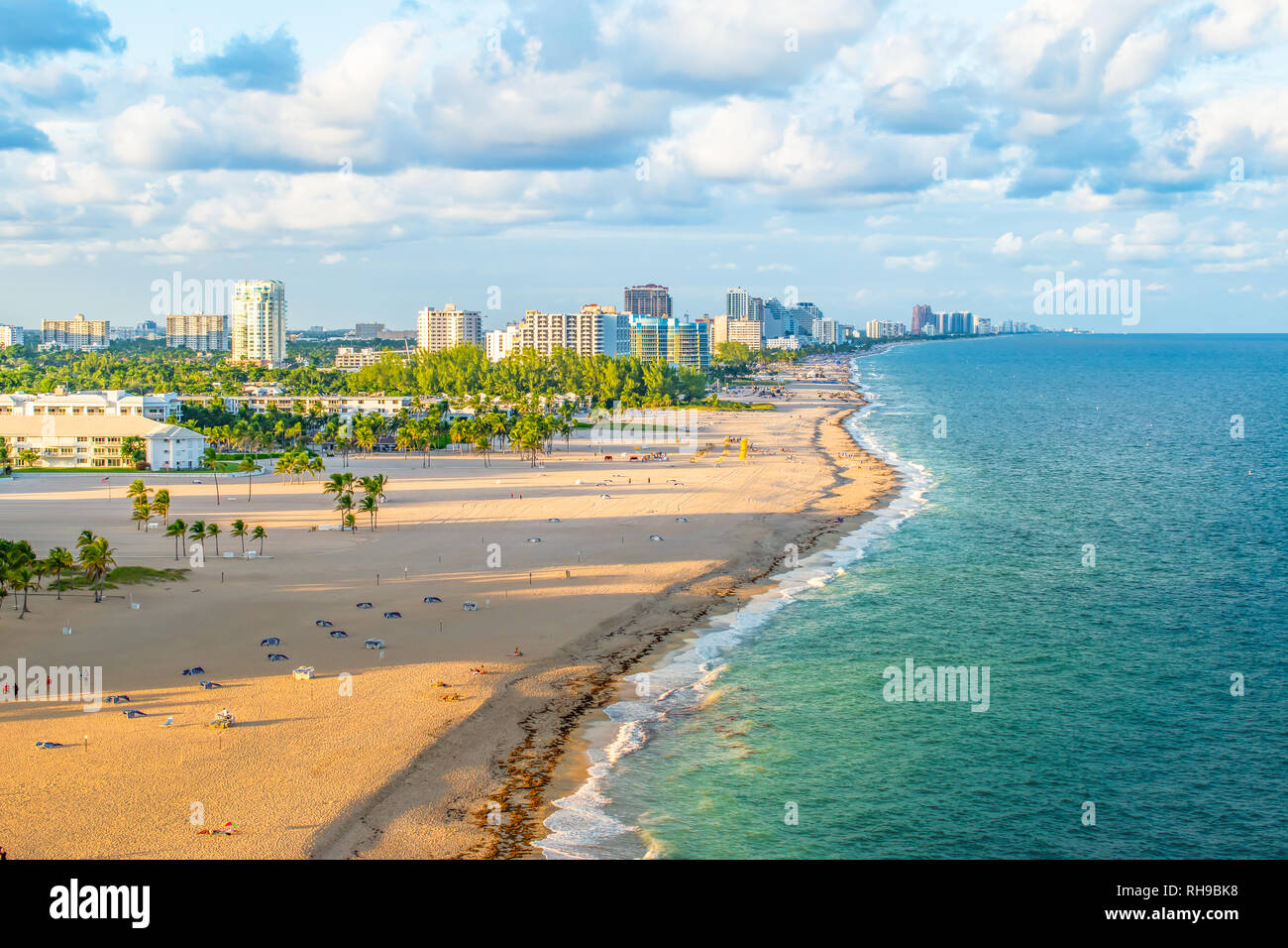 La plage de Fort Lauderdale, Floride Photo Stock