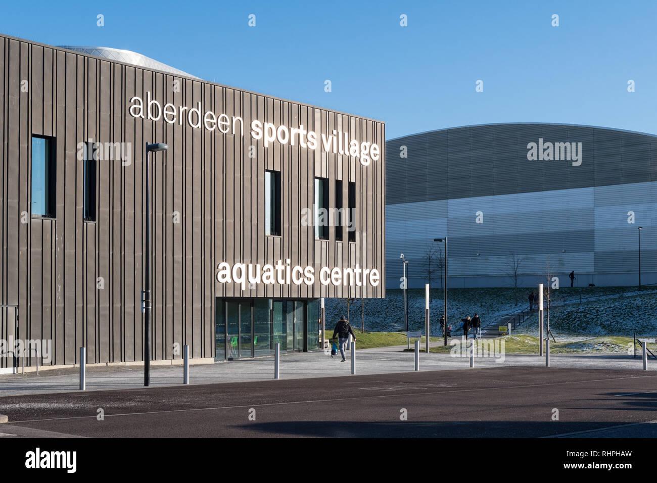Aberdeen Sports Village et centre aquatique, Aberdeen, Écosse, Royaume-Uni Photo Stock