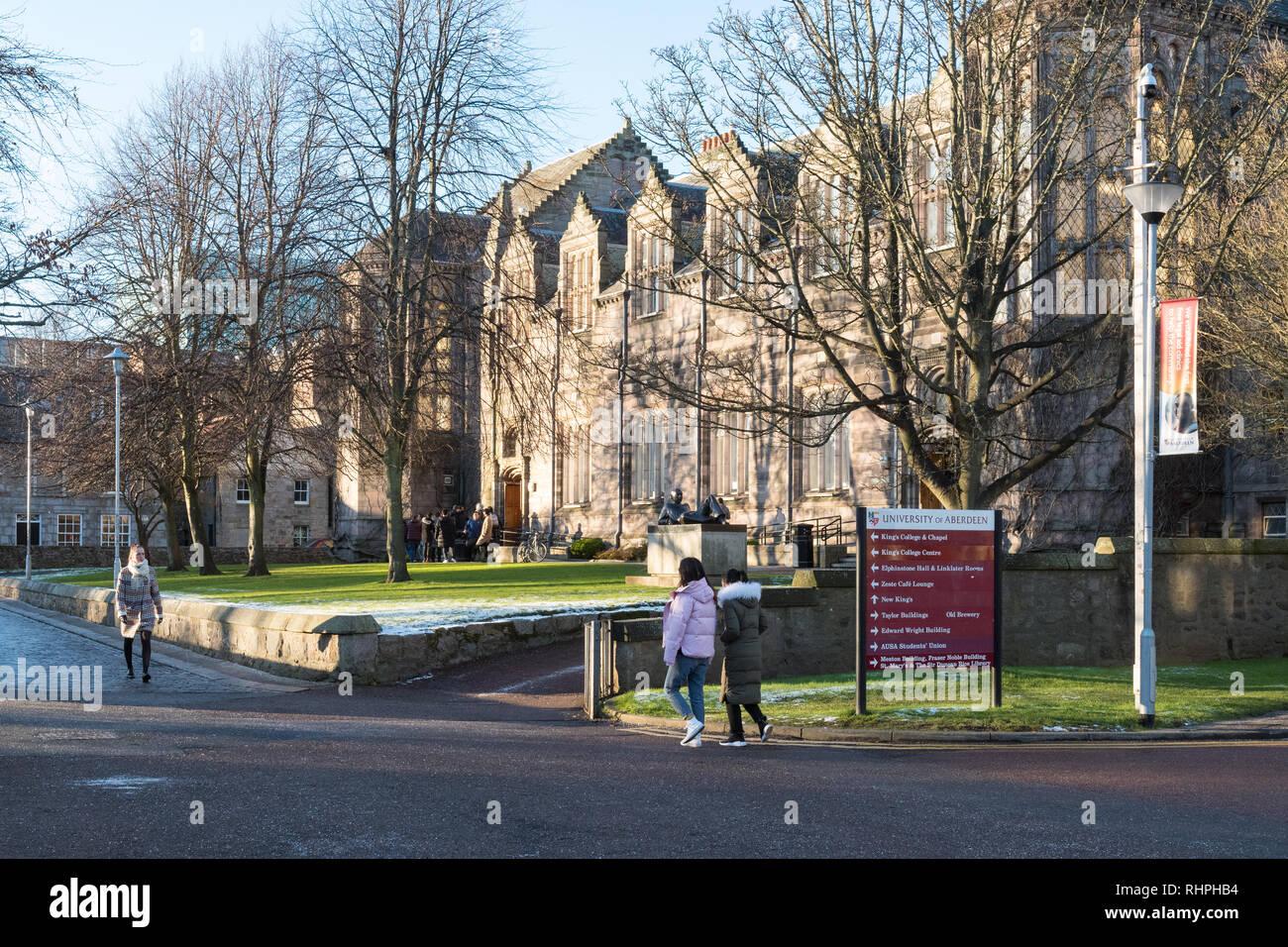 L'Université d'Aberdeen, Écosse, Royaume-Uni Photo Stock