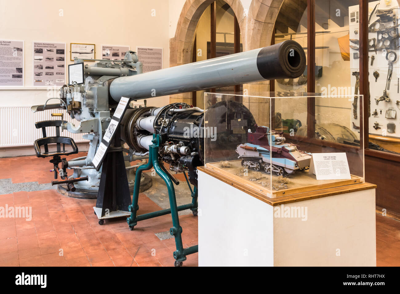 Armstrong & Aviation Museum, Château de Bamburgh, Northumberland, Angleterre Photo Stock
