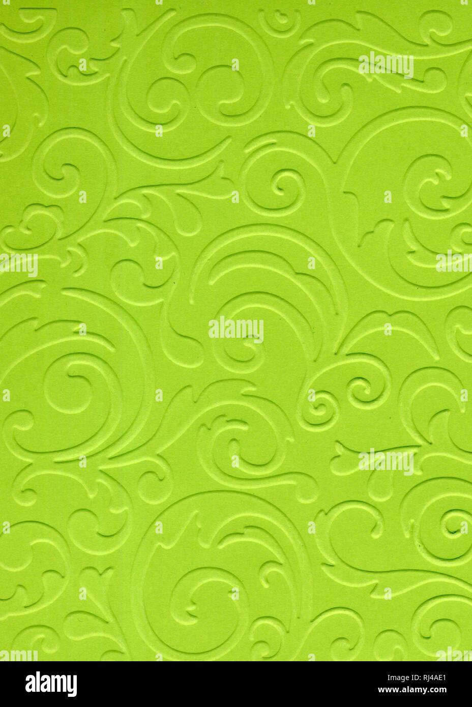 Motif texturé résumé fond de couleur verte en carton ou papier décoratif Photo Stock