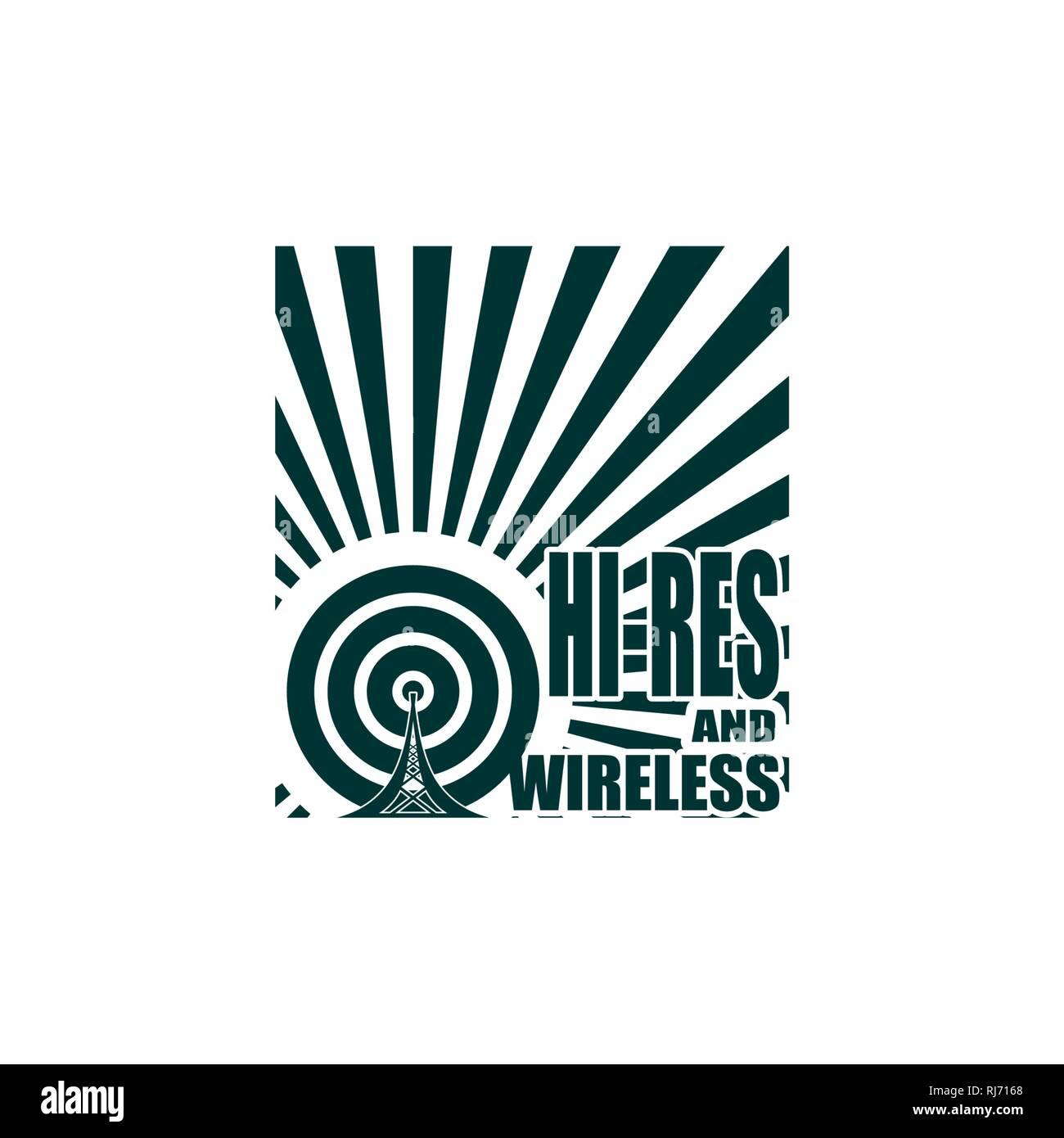 Symbole de réseau sans fil Wi Fi Photo Stock