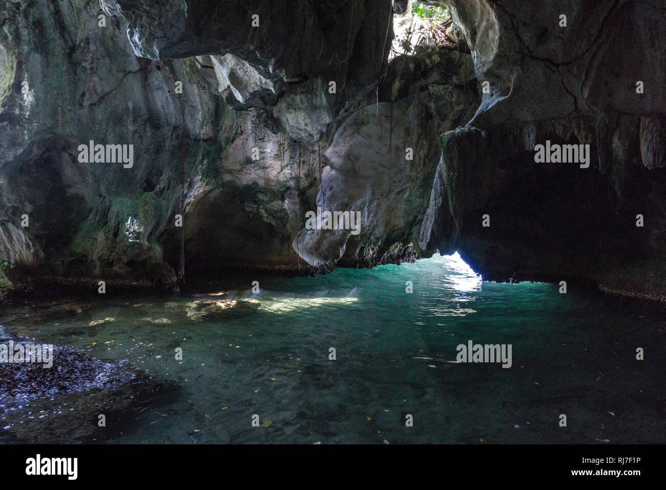 Große Antillen, Karibik Dominikanische Republik, Samana, Höhle, im Nationalpark Los Haitises Banque D'Images