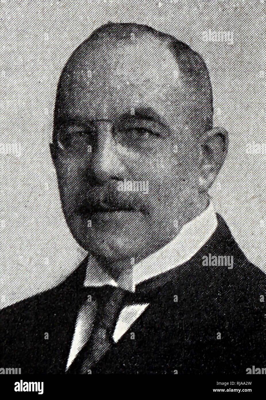 Président de l'Association canadienne de boxe amateur au cours de l'été 1932 Jeux Olympiques de Los Angeles. 20e siècle. Photo Stock