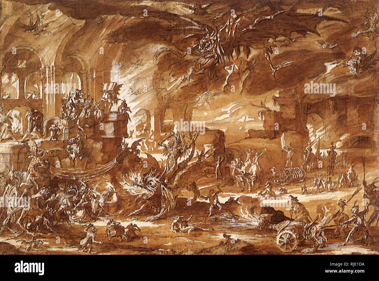 La Tentation de Saint Antoine. Photo Stock