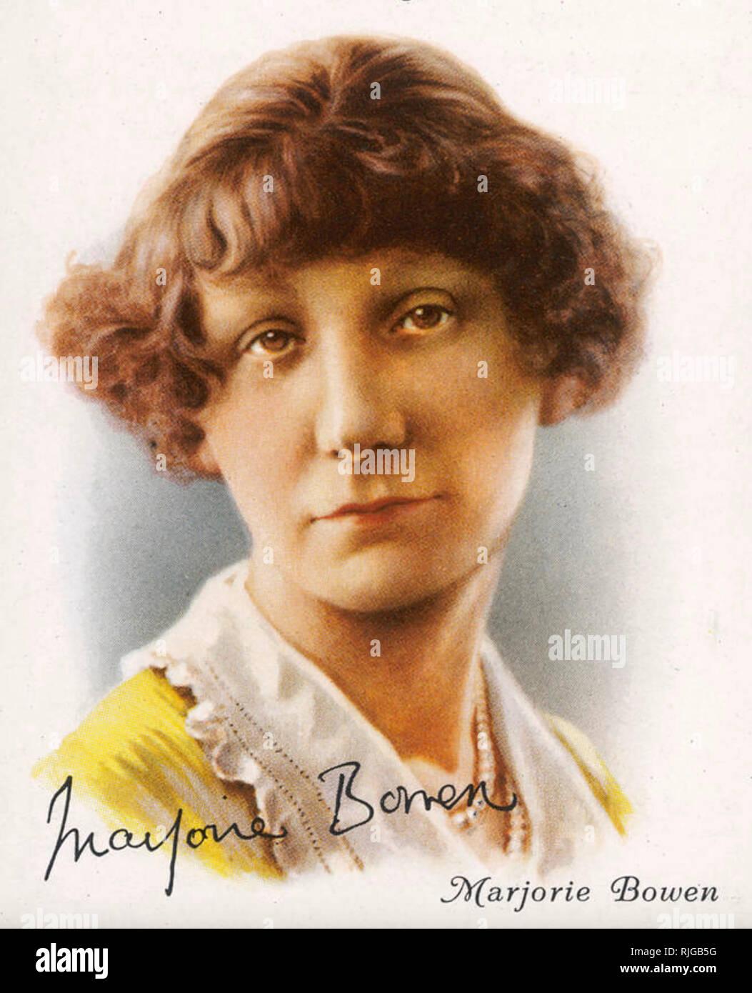 MARJORIE BOWEN (1885-1952) auteur de romans d'anglais, d'histoire et d'histoires d'horreur sur une carte cigarette vers 1925 Photo Stock