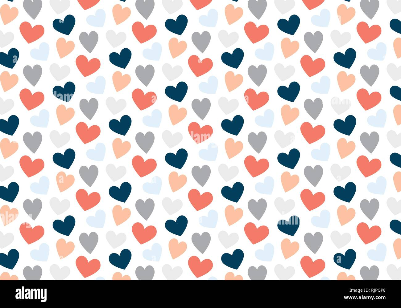 Motif Coeurs Vecteur En Bleu Gris Rouge Et Rose Palette Couleurs