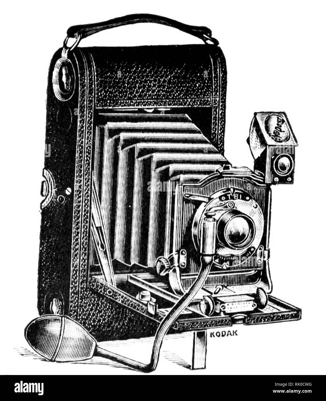 Vintage ancien rouleau de film appareil photographique - cela a été rendu par Kodak Photo Stock