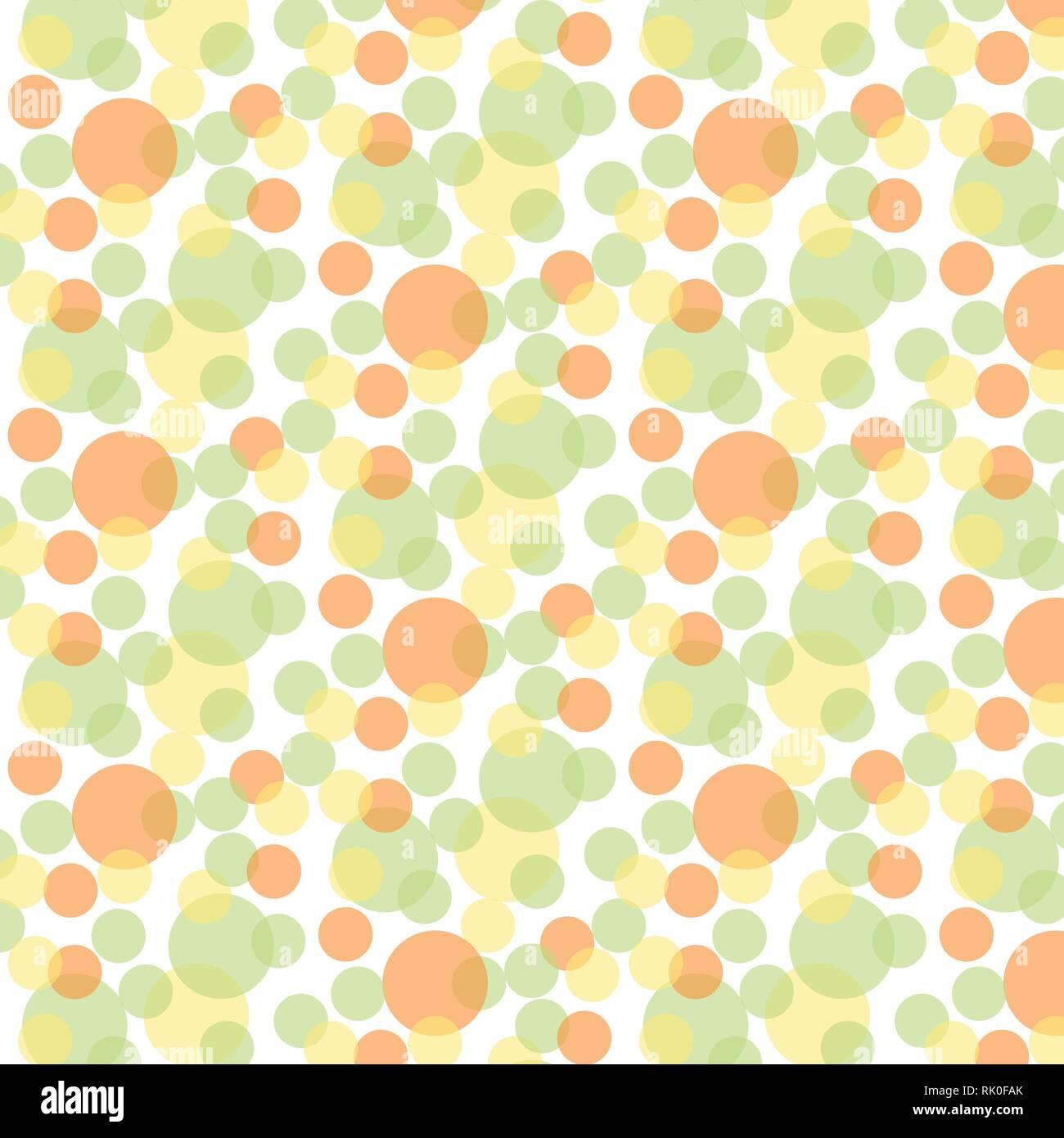 Modèle Vectoriel De Bulles En Vert Jaune Et Orange Palette Couleur