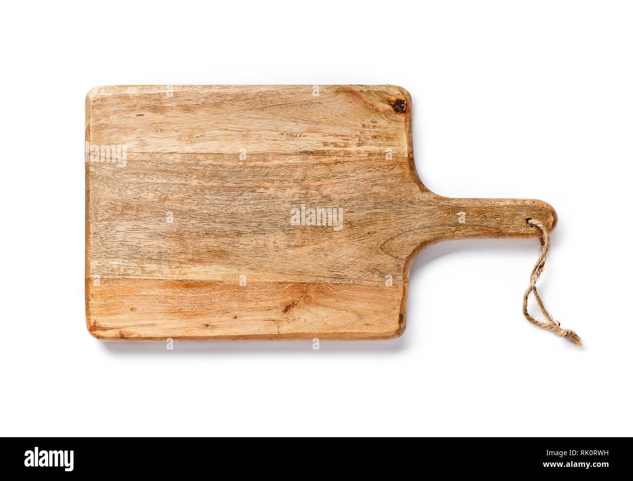 Planche à pain isolé sur fond blanc. Vue de dessus de l'outil de cuisine. Photo Stock