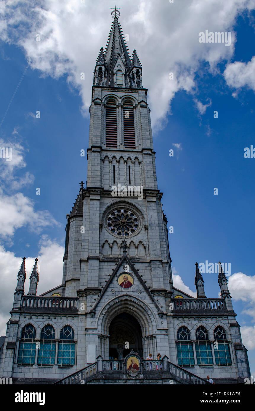 Lourdes, France; Août 2013: détails différents du Sanctuaire de Lourdes en France Banque D'Images
