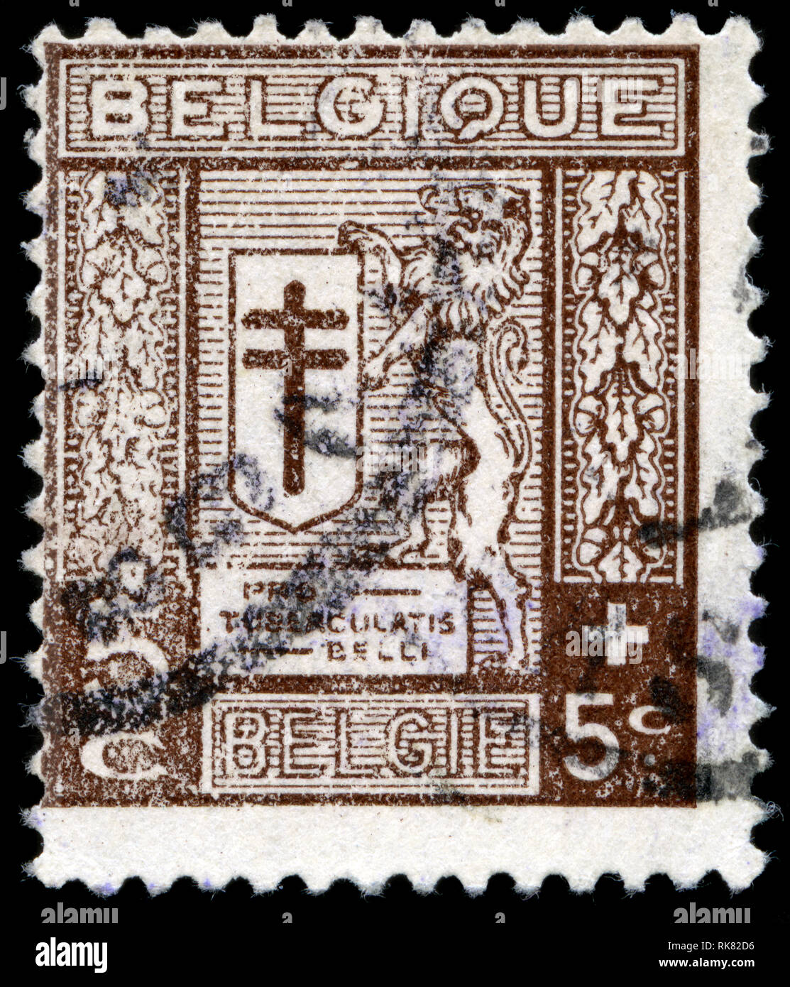 9892b4f909 Timbre-poste de la Belgique dans la lutte contre la tuberculose publié en  1926 série