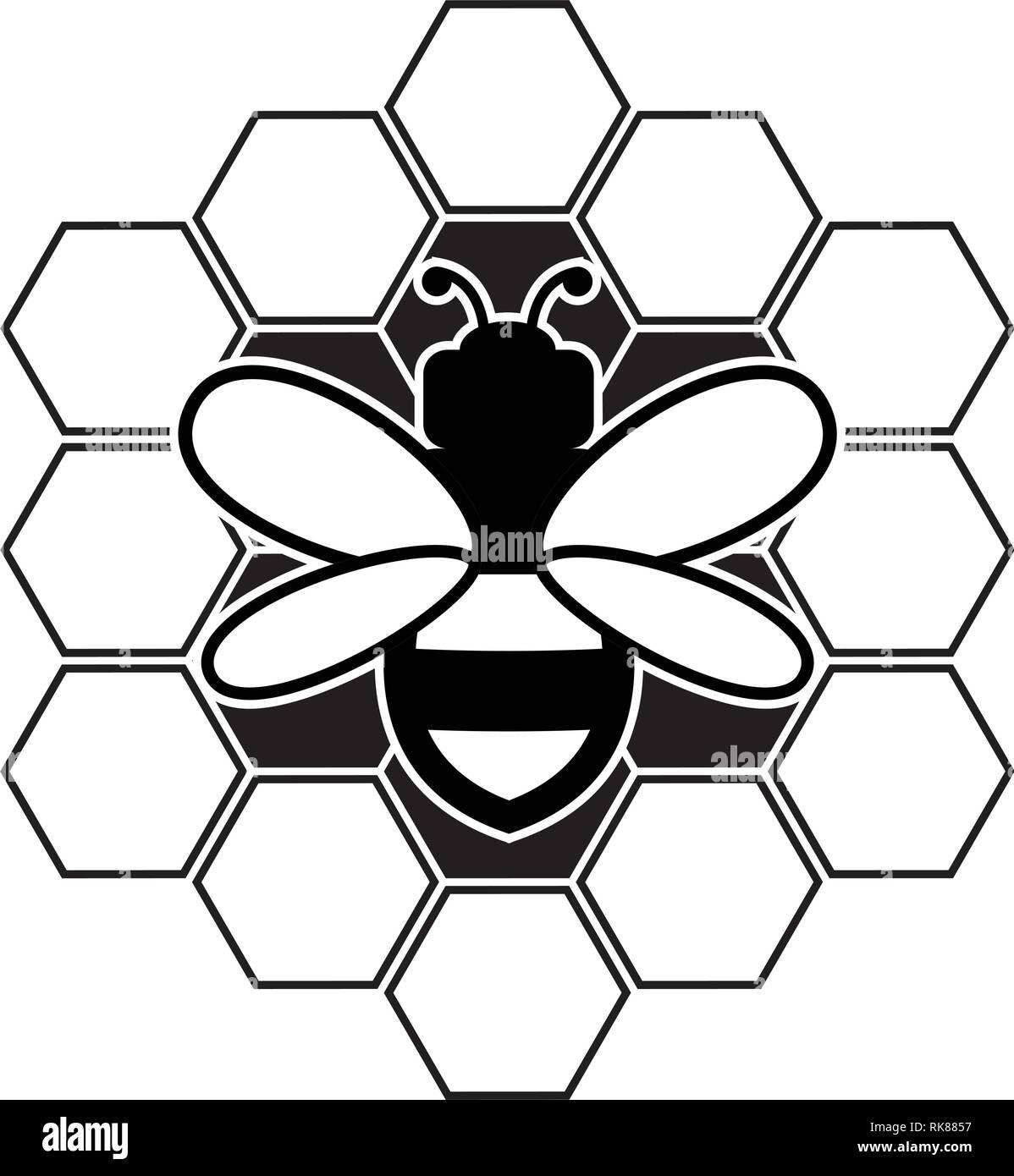 Nid Dabeille Et Vector Icon Isolé Sur Fond Blanctélévision