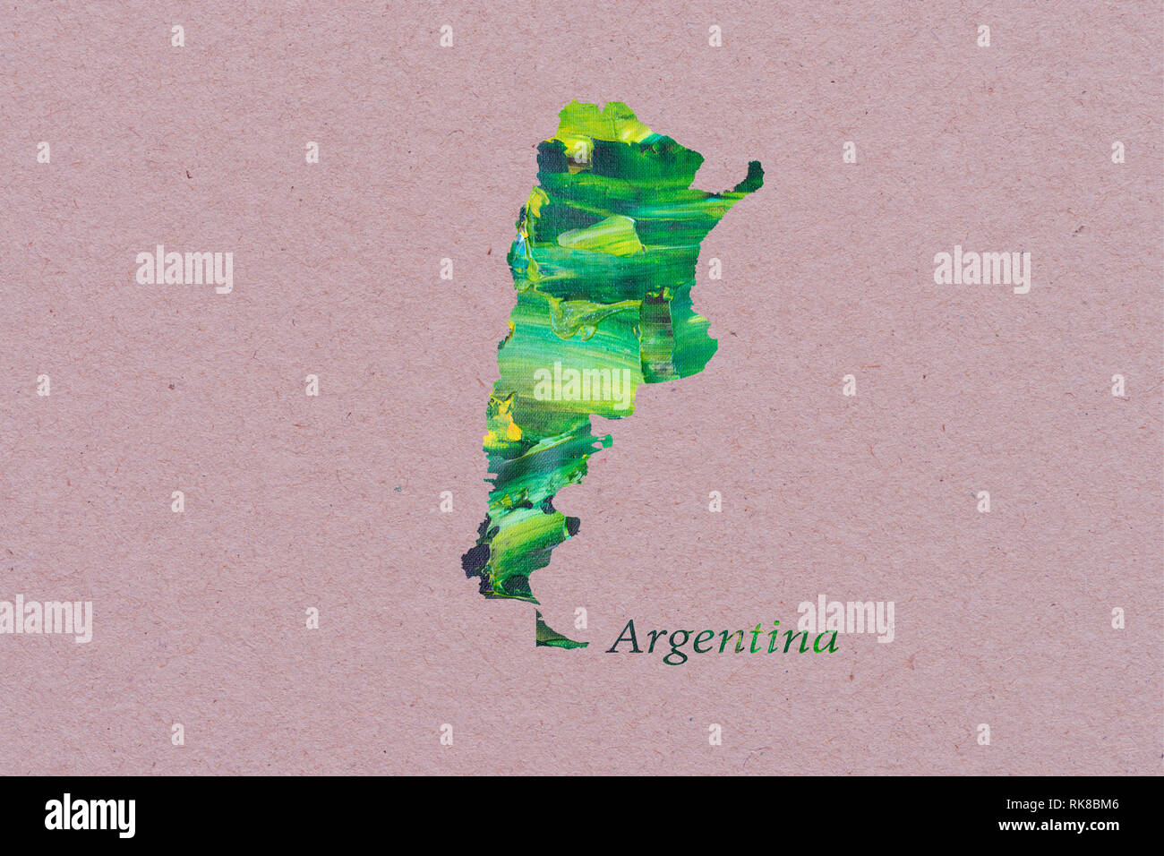 Carte de l'Argentine artistique Banque D'Images
