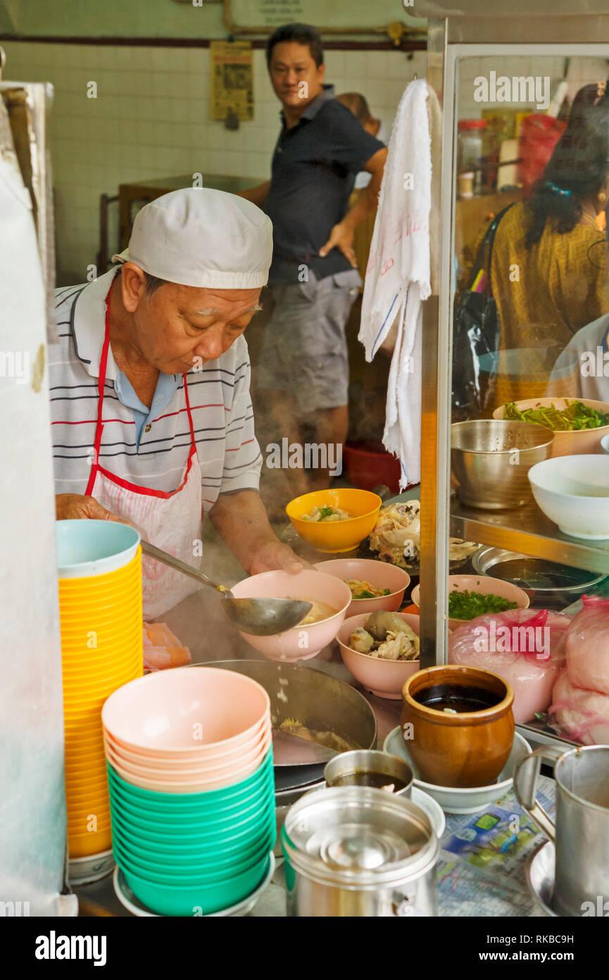 Les aliments chinois célèbres restaurants de rue à Jalan Yau Tet Shin à Ipoh, Malaisie Photo Stock