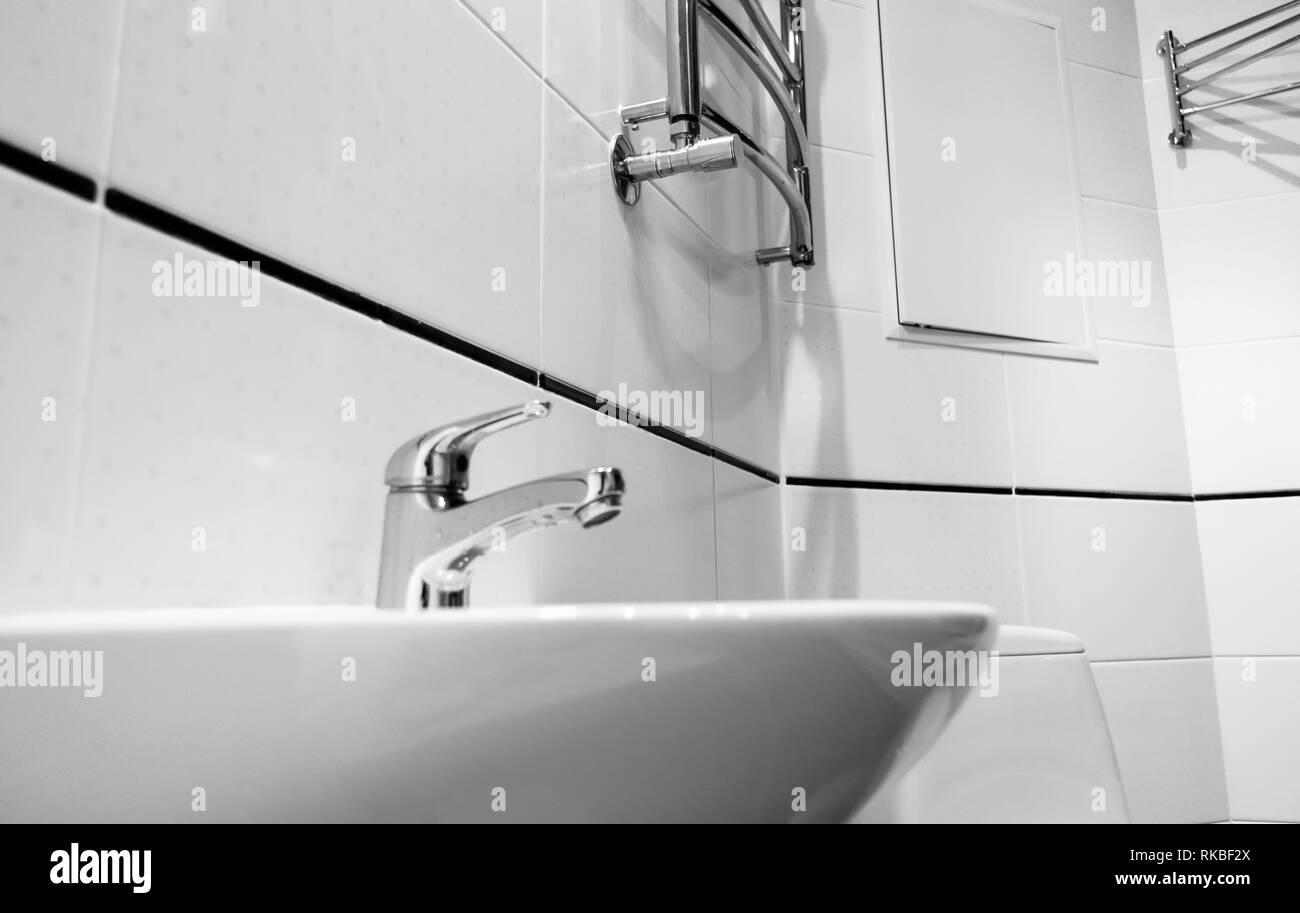 Éléments de l\'intérieur salle de bains moderne, chrome ...
