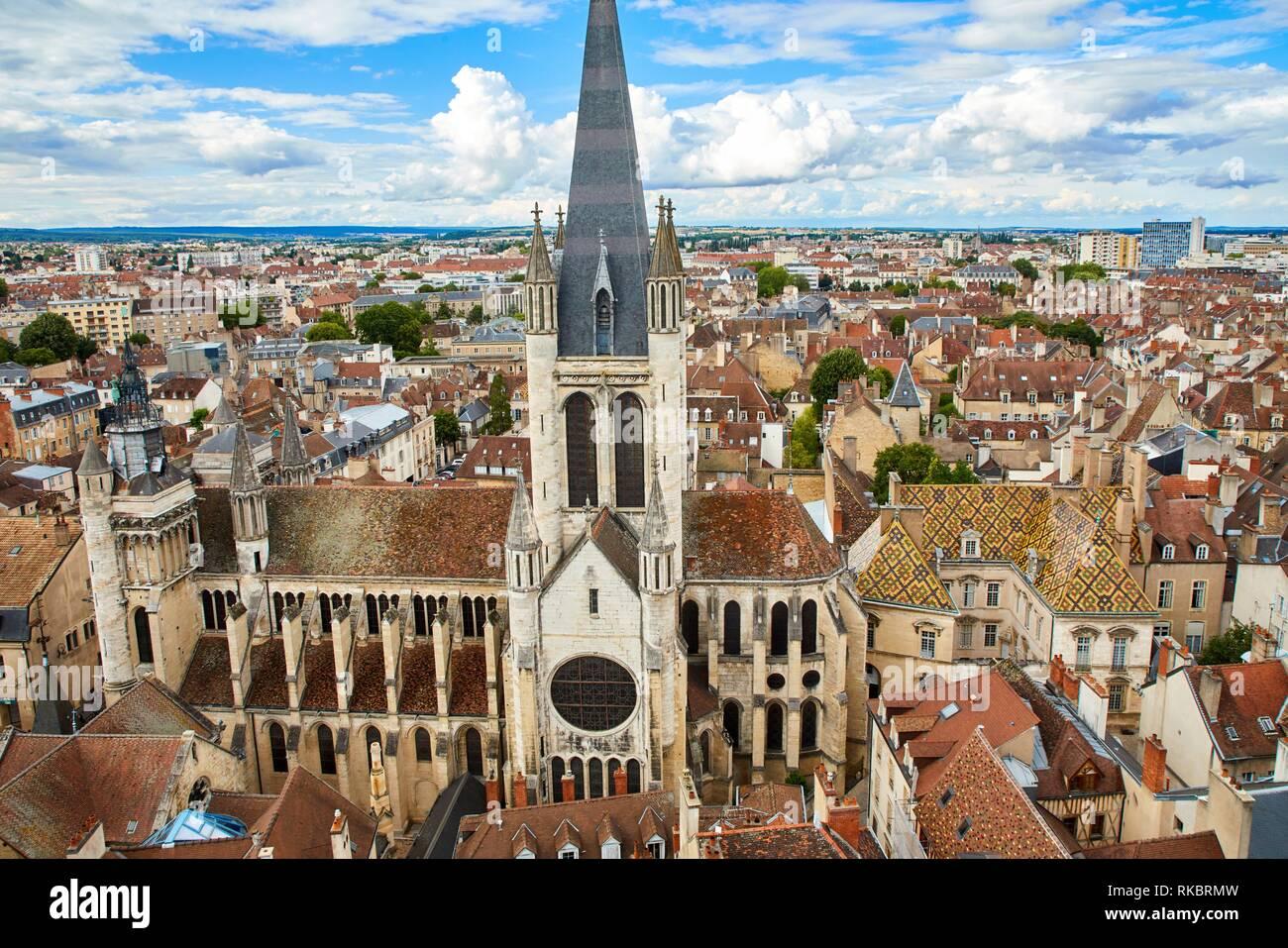 L'église Notre Dame, l'hôtel de Vogue, Dijon, Côte d'Or, Bourgogne, Bourgogne, France, Europe Photo Stock