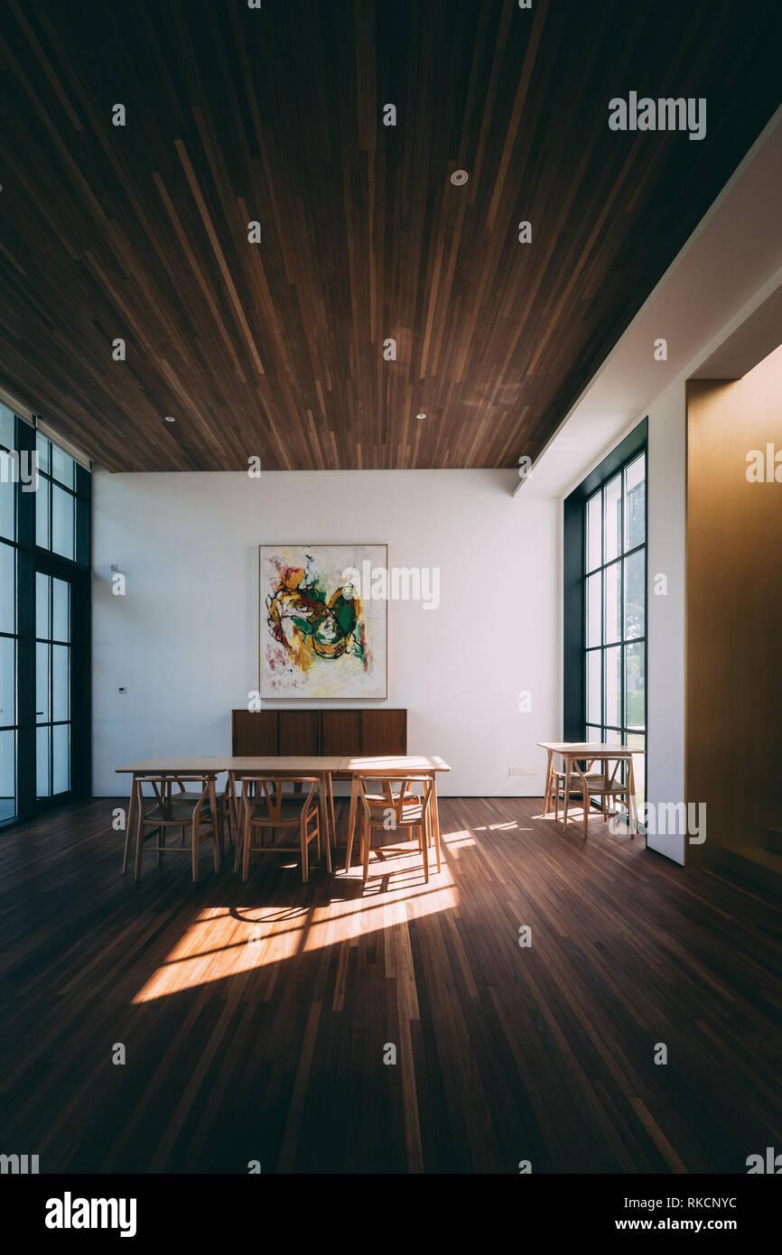 Moderne contemporain en bois dintérieur meubles de chambre minimaliste de style asiatique