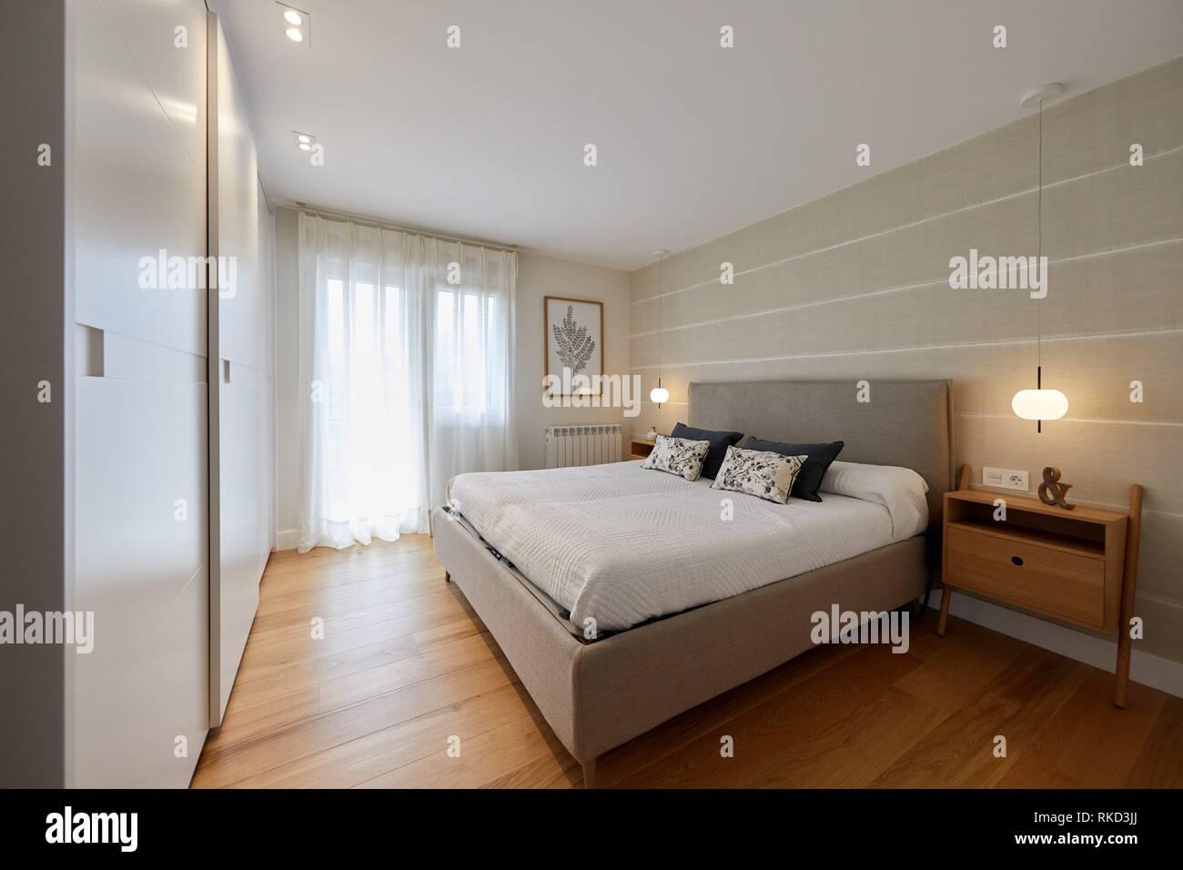 Chambre à Coucher, Lu0027éclairage, La Décoration Du0027intérieur Du Logement,  Oñati, Gipuzkoa, Pays Basque, Espagne, Europe