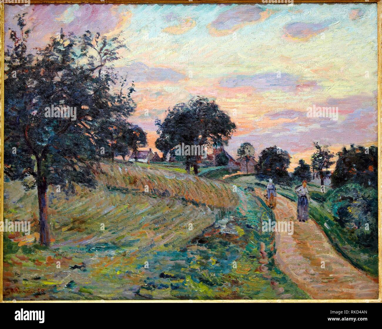 '''Road à Damiette'', 1885, Armand Guillaumin, Musée Thyssen Bornemisza, Madrid, Espagne Photo Stock