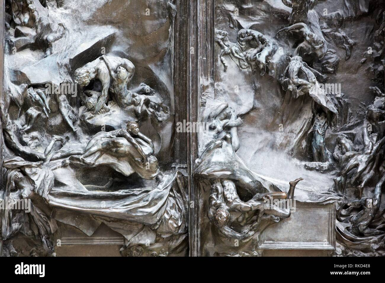 '''Les portes de l'enfer'', sculpture d'Auguste Rodin. Musée Rodin. Paris. France Photo Stock