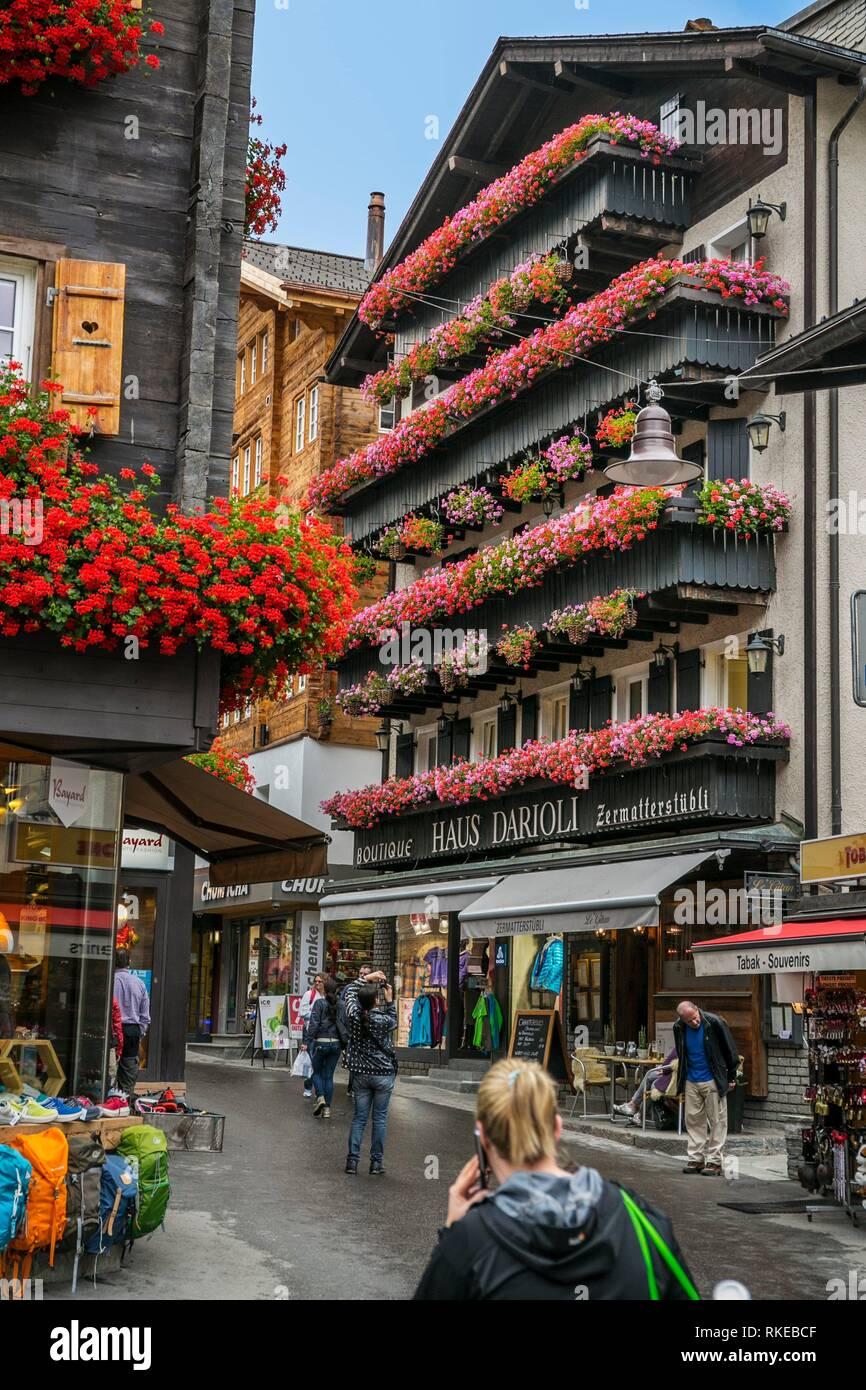 Zermatt. Alpes suisses. Valais. La Suisse. L'Europe. Photo Stock