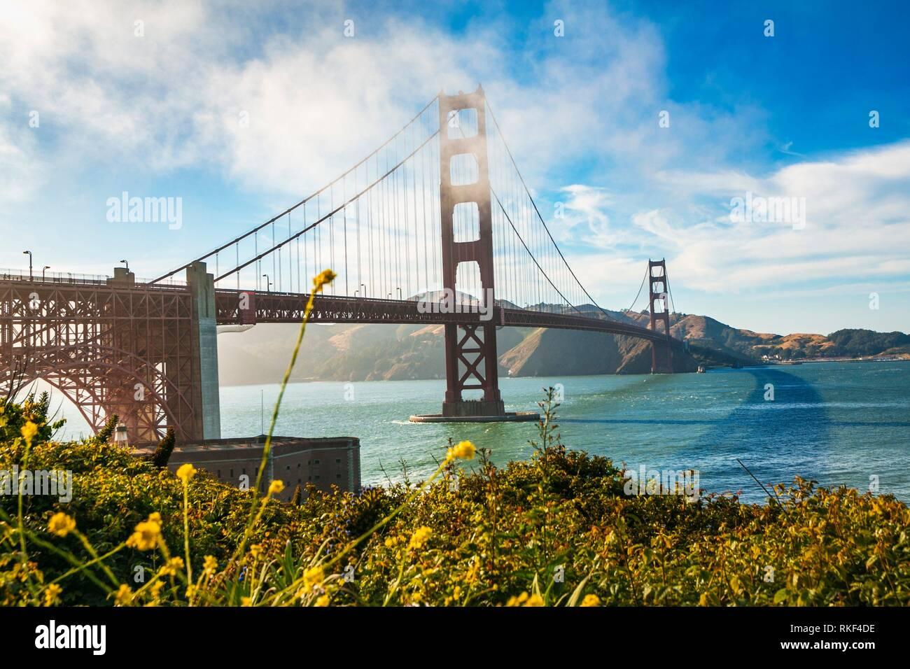 Le Golden Gate Bridge. San Francisco. La Californie. USA Banque D'Images