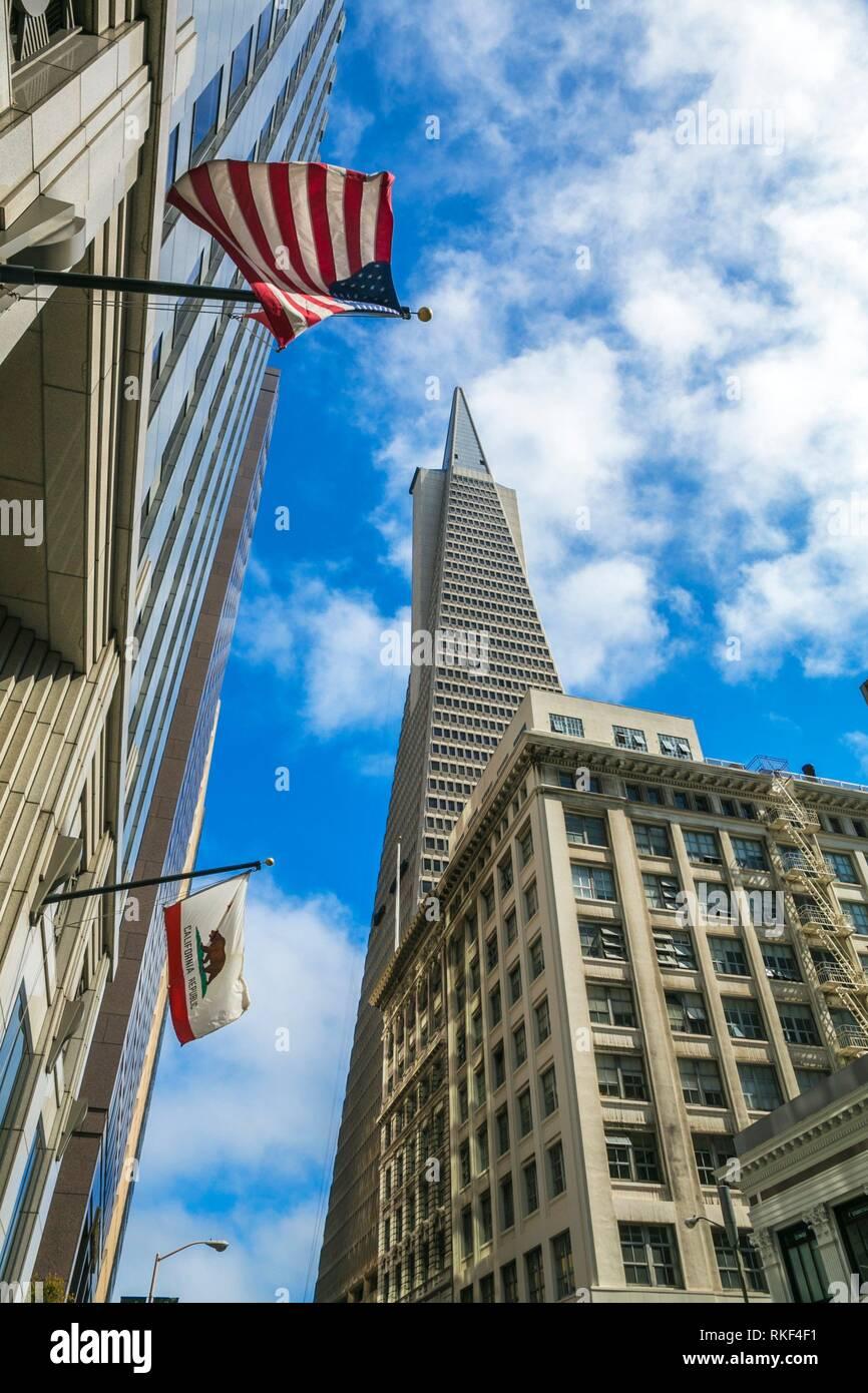 La Wells Fargo Bank. Quartier financier. San Francisco. La Californie, USA Photo Stock