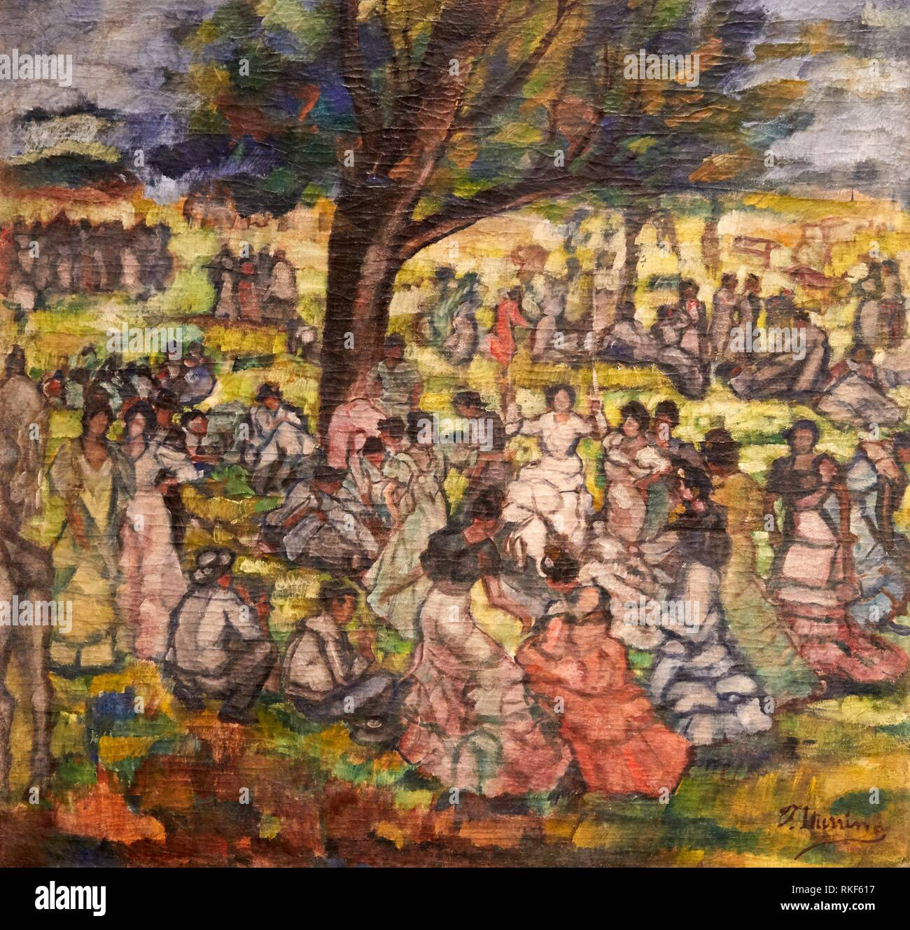 '''Une journée dans le pays'', c. 1905-1911, Francisco Iturrino, Musée National d'Art Catalan, Museu Nacional d'Art de Catalunya, MNAC, Barcelone, Photo Stock