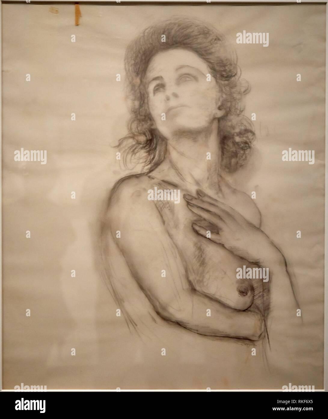 '''Study le morceau apothéose le Dollar'', c.1965, Salvador Dalí, Exposition ''Gala Salvador Dalí. A Room of One's Own à Púbol'', Musée National Photo Stock