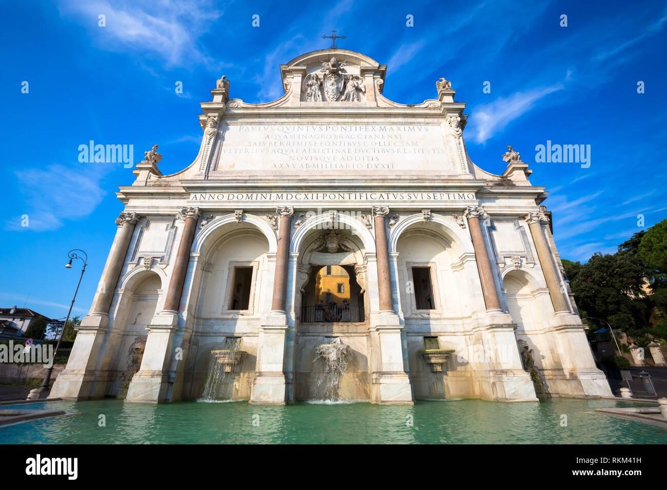 La Fontana dell'Acqua Paola a également connu comme il Fontanone (''la grande fontaine'') est une fontaine monumentale située sur le mont Janicule à Rome. Banque D'Images