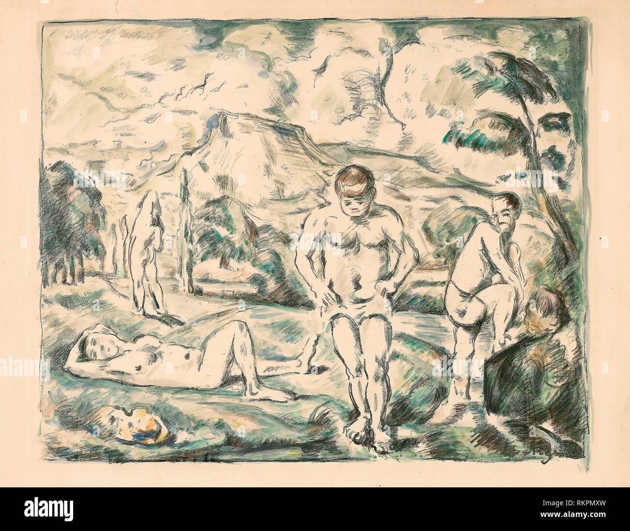 Les grandes baigneuses - 1896-c. 1898 - Paul Cézanne (Français, 1839-1906) imprimé par Auguste Clot (Français, 1858-1936) - Artiste: Paul Cézanne, origine: France, Banque D'Images