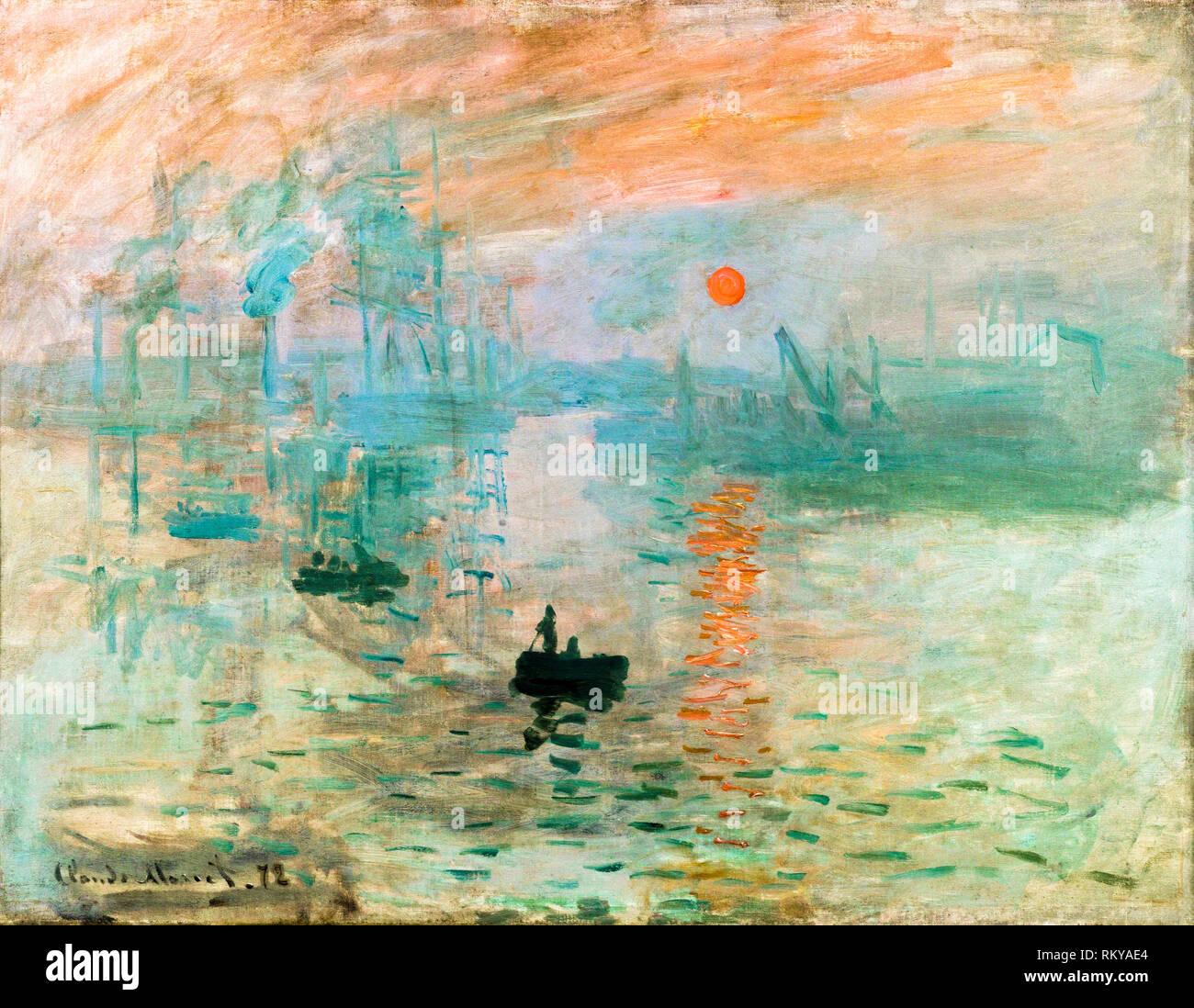Impression, Sunrise par Claude Monet, 1872, peinture Photo Stock