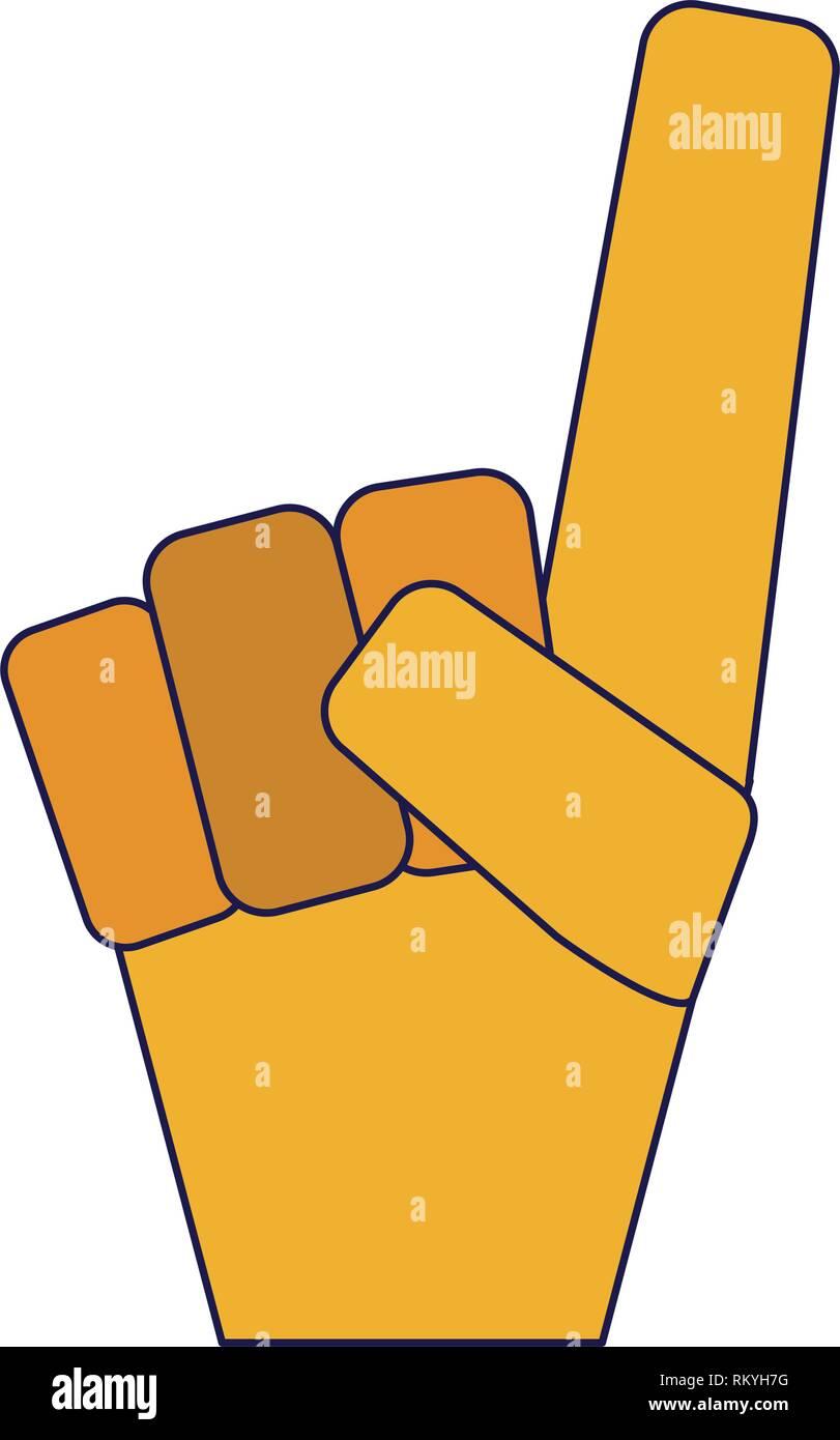 Fan de sport numéro un gant lignes bleues Photo Stock