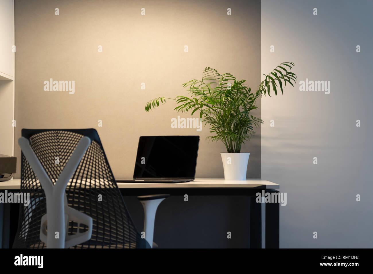 Office Interior Chaire D Orthopedie Les Ordinateurs Portables Et