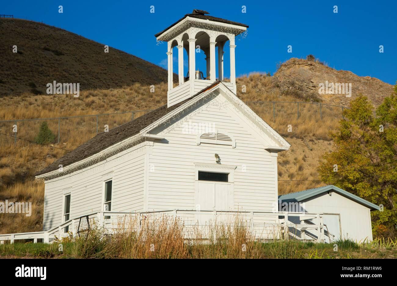 Nouvelle école de Chicago, Drummond, au Montana. Photo Stock