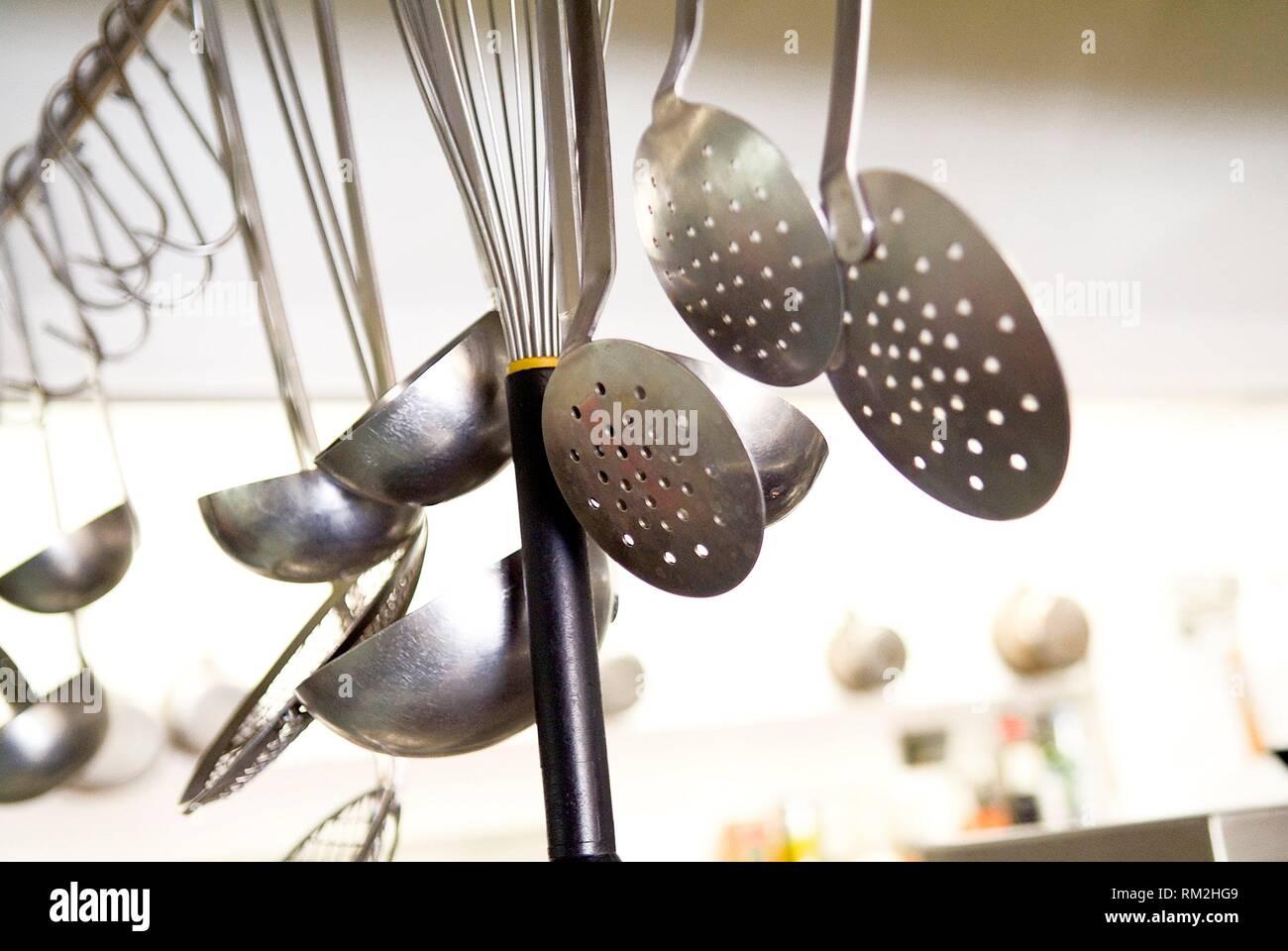 Cuisine, restaurant de Figueres, en Catalogne, espagne. Photo Stock