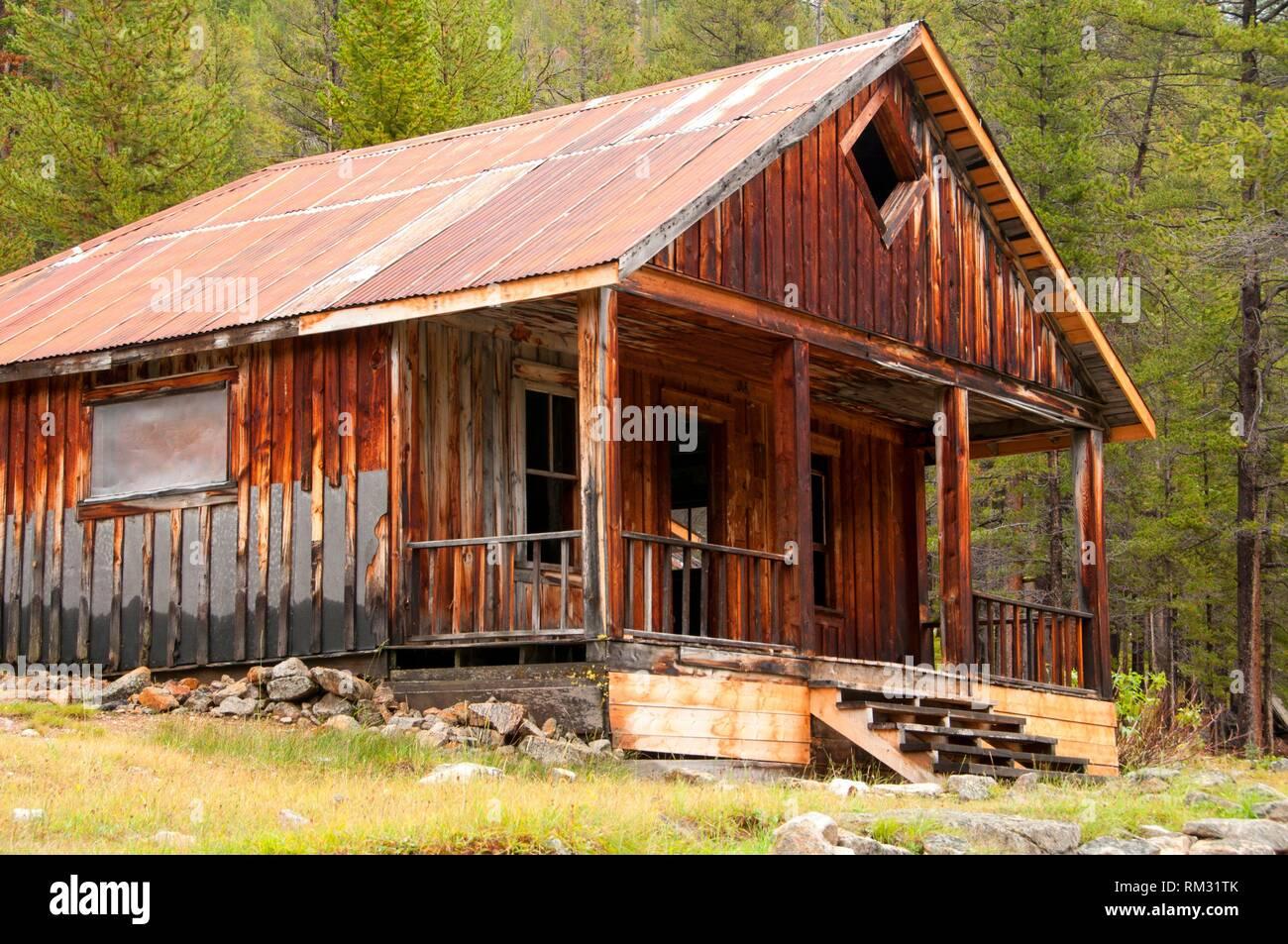 Ripley Home, Coolidge Ghost Town, forêt nationale de Beaverhead-Deerlodge, Montana. Photo Stock