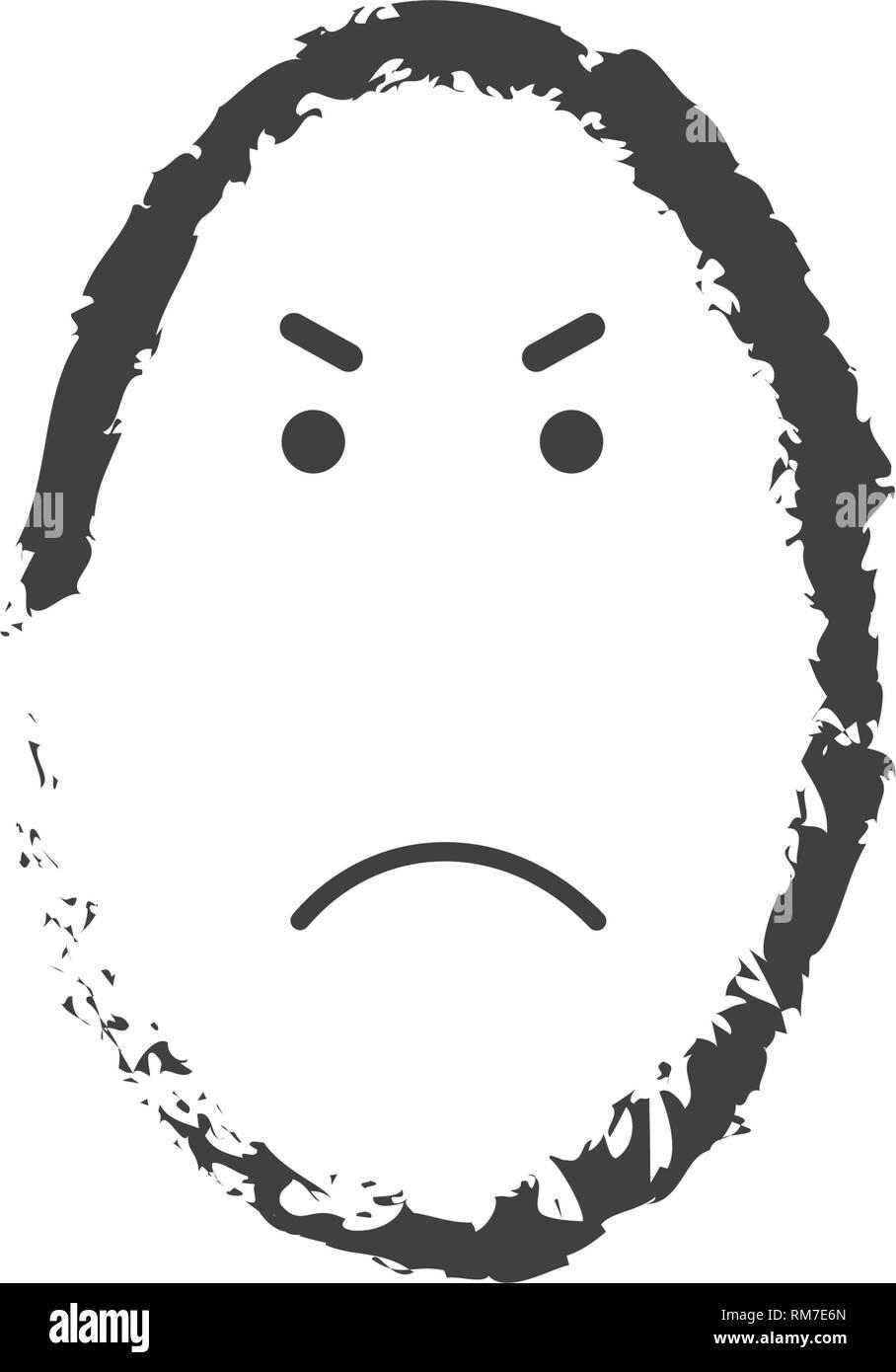 visage simple dessin
