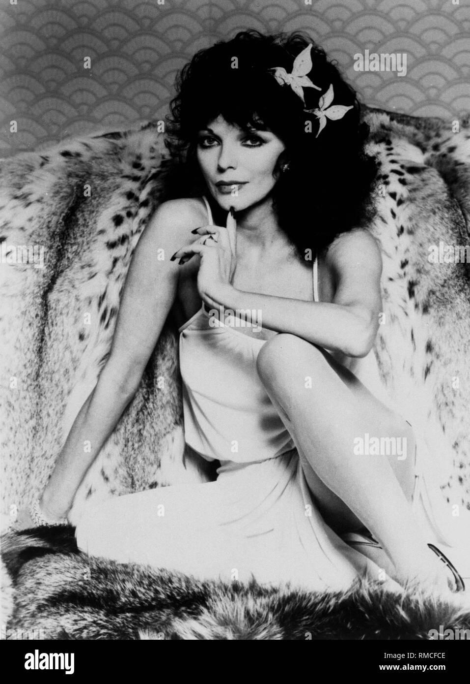 Joan Collins. Banque D'Images
