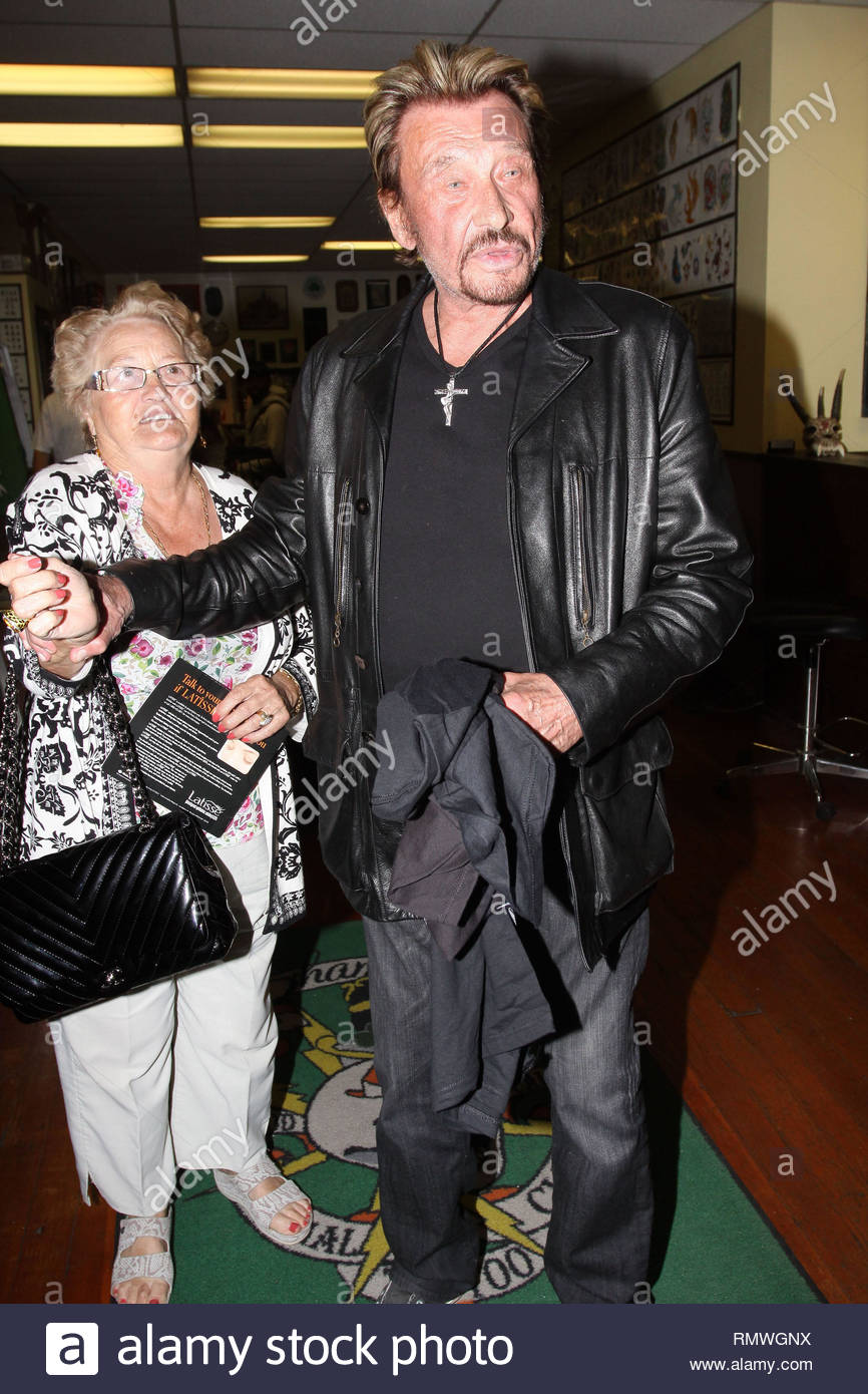 West Hollywood Ca French Rock Star Johnny Hallyday Fait Une
